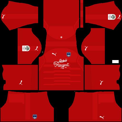 Kit-bordeaux-dls-away-Gk-uniforme-goleiro-fora-de-casa-18-19