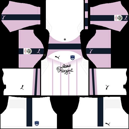 Kit-bordeaux-dls-away-uniforme-fora-de-casa-18-19