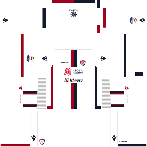 Kit cagliari dls away uniforme fora de casa 18-19