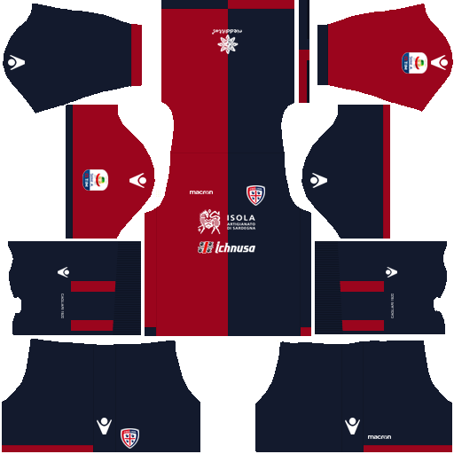 Kit cagliari dls home uniforme casa 18-19