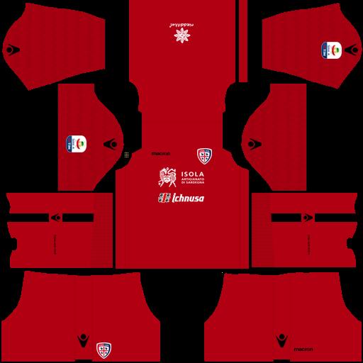 Kit cagliari dls third Gk terceiro uniforme goleiro 18-19