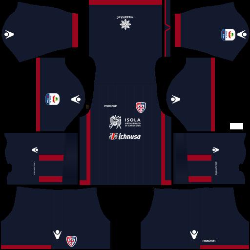 Kit cagliari dls third terceiro uniforme 18-19