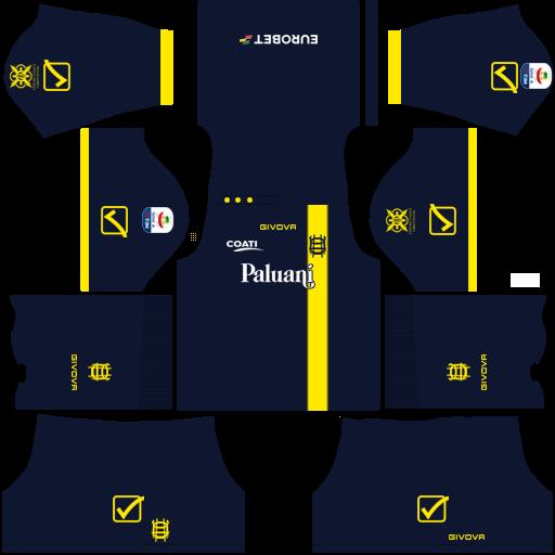 Kit chievo verona dls Third terceiro uniforme 18-19