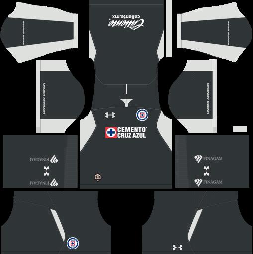 Kit-cruz-azul-dls-home-Gk-uniforme-goleiro-casa-18-19