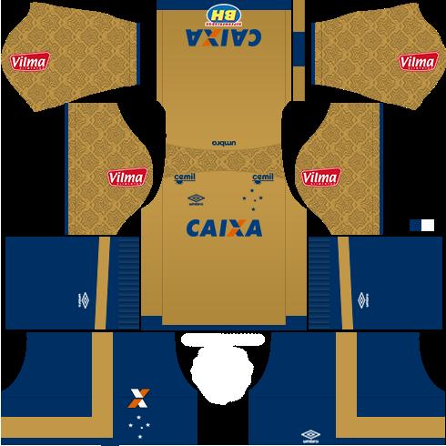 Kit cruzeiro away GK - uniforme goleiro fora de casa 17-18