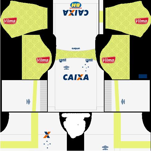 Kit cruzeiro third Gk - terceiro uniforme do goleiro 17-18