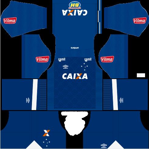 Kit cruzeiro third - terceiro uniforme 17-18