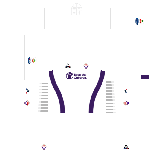 Kit fiorentina dls away uniforme fora de casa 18-19