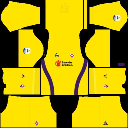 Kit fiorentina dls third Gk terceiro uniforme goleiro 18-19