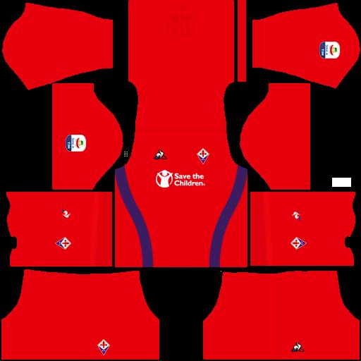 Kit fiorentina dls third terceiro uniforme 18-19