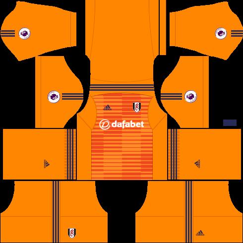 Kit-fulham-dls-home-Gk-uniforme-goleiro-casa-18-19