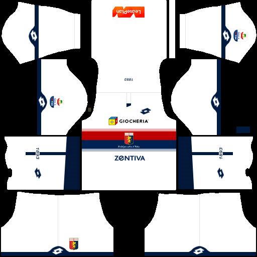 Kit genoa dls away uniforme fora de casa 18-19
