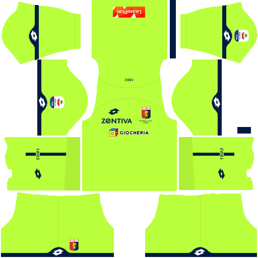 Kit genoa dls third Gk terceiro uniforme goleiro 18-19