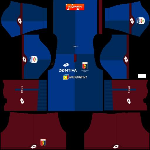 Kit genoa dls third terceiro uniforme 18-19