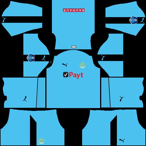 Kit groningen dls third Gk terceiro uniforme goleiro 18-19