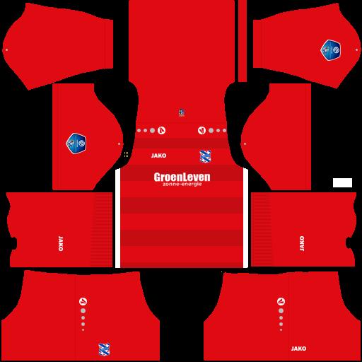 Kit heerenveen dls away Gk uniforme goleiro fora de casa 18-19