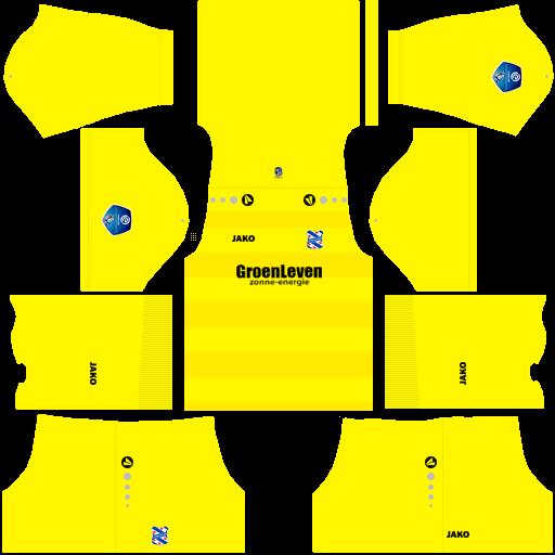 Kit heerenveen dls home Gk uniforme goleiro casa 18-19