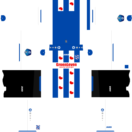 Kit heerenveen dls home uniforme casa 18-19