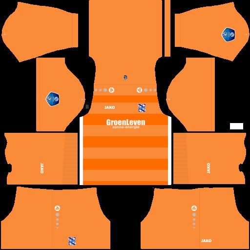 Kit heerenveen dls third Gk terceiro uniforme goleiro 18-19