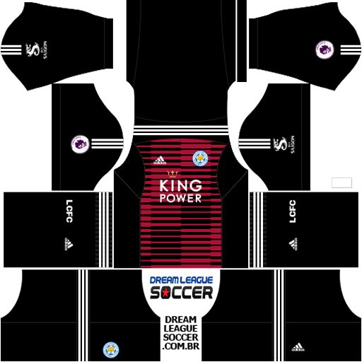 Kit-leicester-city-dls-home-Gk-uniforme-goleiro-casa-18-19