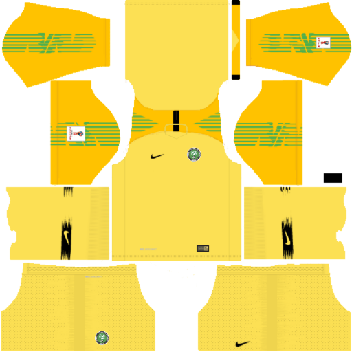 Kit nigeria-dls18-away Gk-world-cup-2018-uniforme goleiro fora de casa