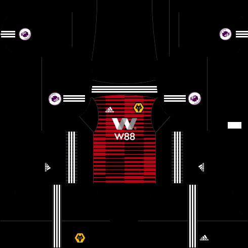 Kit wolverhampton dls away Gk - uniforme goleiro fora de casa-18-19