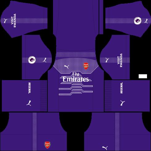 kit-Arsenal-dls-away-Gk-uniforme-goleiro-fora-de-casa-18-19
