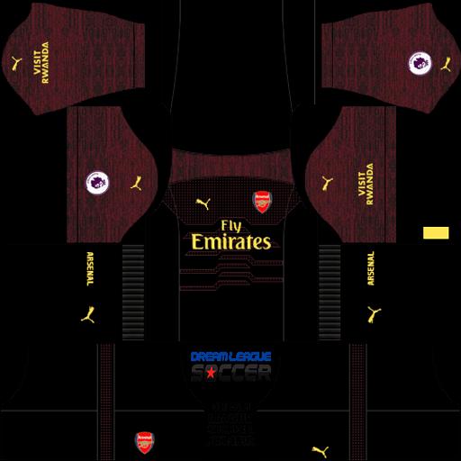kit-Arsenal-dls-home-Gk-uniforme-goleiro-casa-18-19