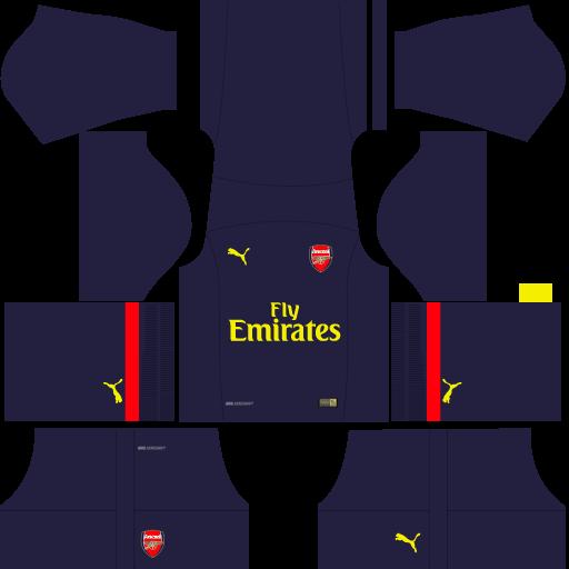 kit-Arsenal-dls-home-Gk---uniforme-goleiro-casa-18-19
