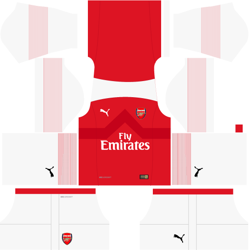 san francisco 2c128 7f3b3 Kit Arsenal para DLS 19 - Dream League Soccer atualize seu ...