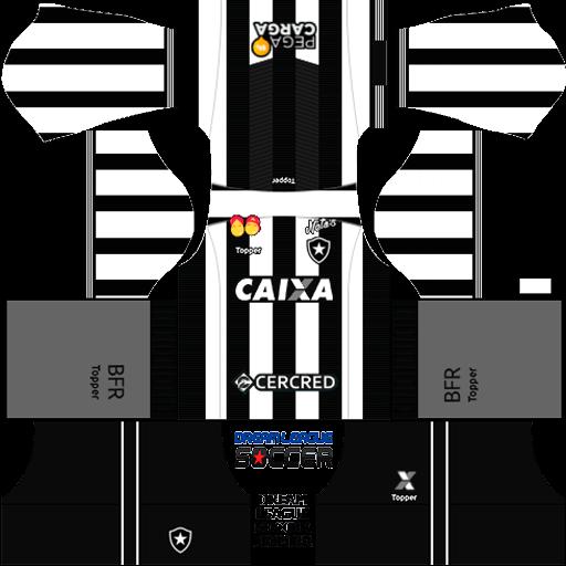 Kit Botafogo 2019 Dream League Soccer 2019 kits URL 512×512