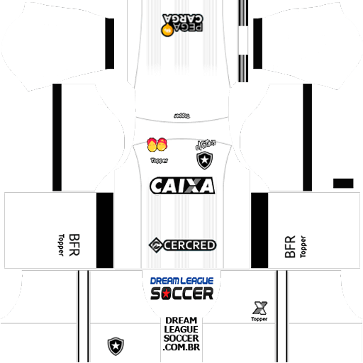 17e7bbbf59 Kit Botafogo 2019 Dream League Soccer 2019 kits URL 512×512 dls 2019