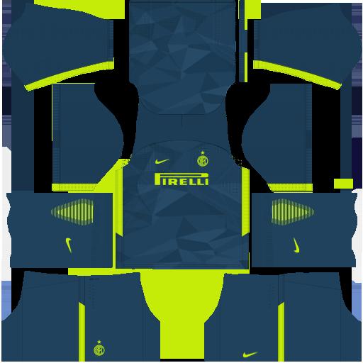 kit Internazionale Milano - inter de milão dls17 third - terceiro uniforme