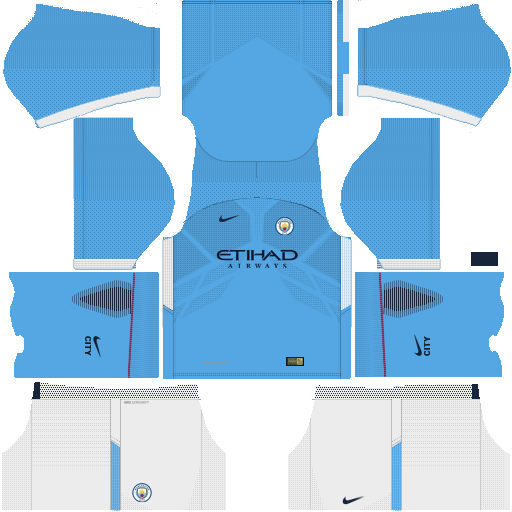 kit Manchester city dls17 home - uniforme casa