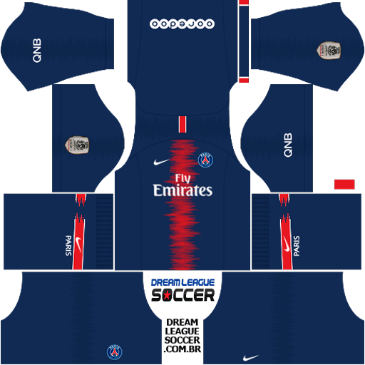 7ab967088fb Kit PSG 2018 2019 Dream League Soccer kits URL 512×512 DLS 2019