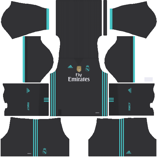 kit Real Madrid dls17 away - uniforme fora de casa