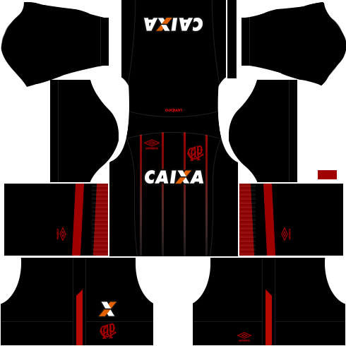 kit atletico paranaense dls17 alternativo 17-18