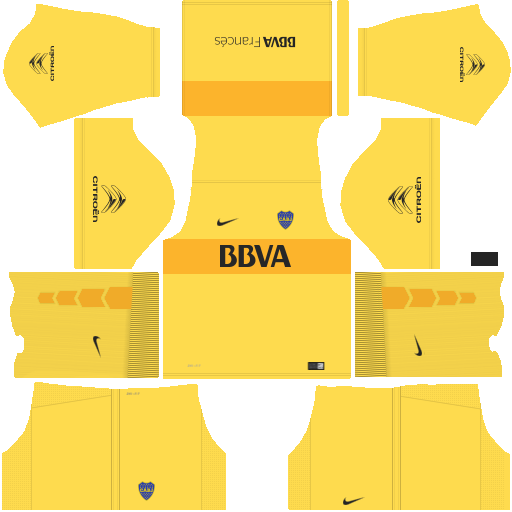 kit boca junior dls17 uniforme goleiro alternativo