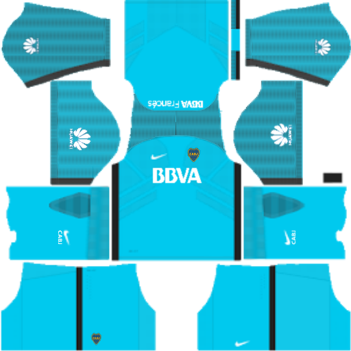 kit boca juniors dls17 goleiro alternativo