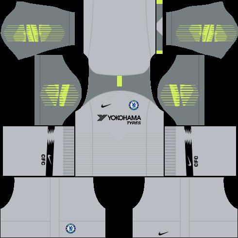kit-chelsea-dls-third-Gk-terceiro-uniforme-goleiro-18-19
