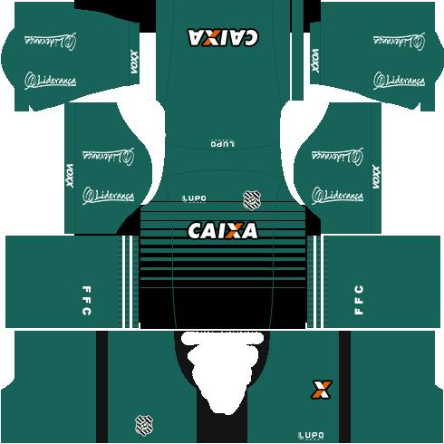 kit figueirense dls17 uniforme goleiro casa 16-17