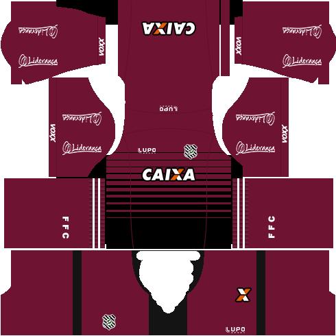 kit figueirense dls17 uniforme goleiro fora de casa 16-17