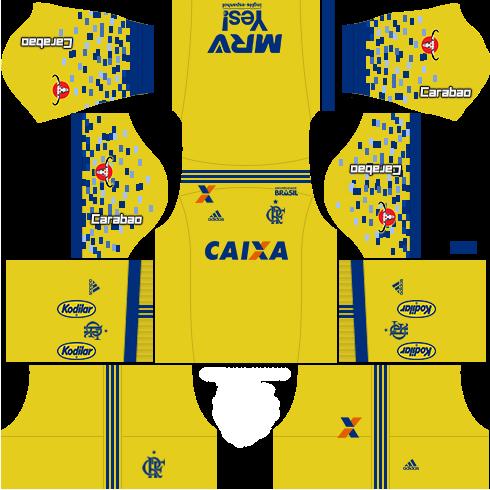 kit flamengo dls17 terceiro uniforme 17-18