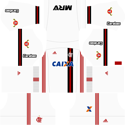 kit flamengo dls17 uniforme fora de casa 17-18