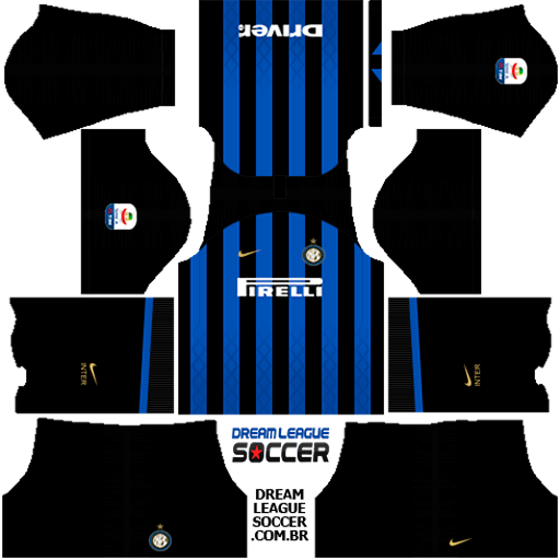 kit-inter-de-milão-Internazionale-Milano-dls-home-uniforme-casa-18-19