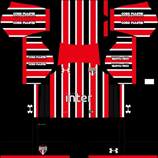 Kit São Paulo 2019 Dream League Soccer 2019 kits URL 512×512